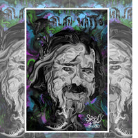 Alan Watts Limited Edition Holographic Print