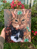 """Grumpy Cats"" Canvas Portrait"