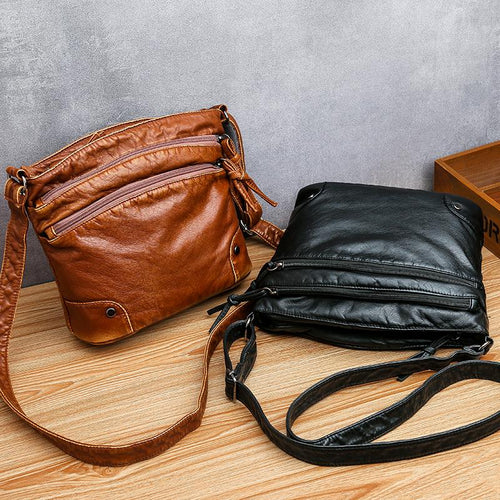 Vintage Designer Handbags Leather Crossbody Shoulder Bags