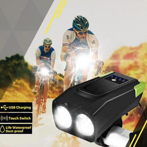 Bicycle Headlights With Electronic Bell