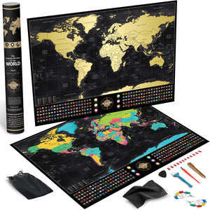 Voyager Deluxe Scratch-Off World Map (60% OFF)