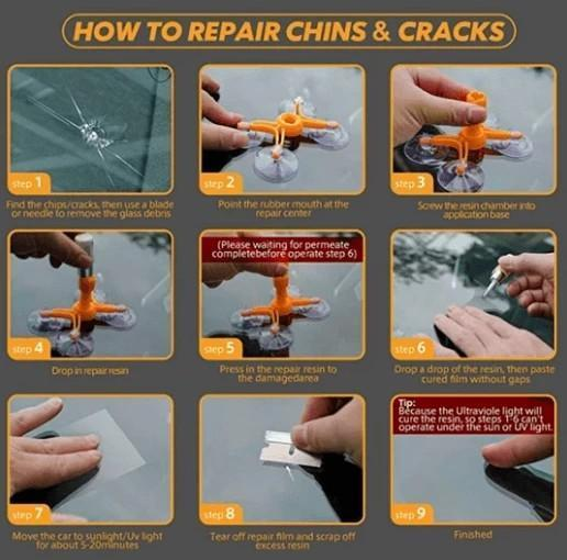 CRACKED GLASS UNIVERSAL REPAIR KIT