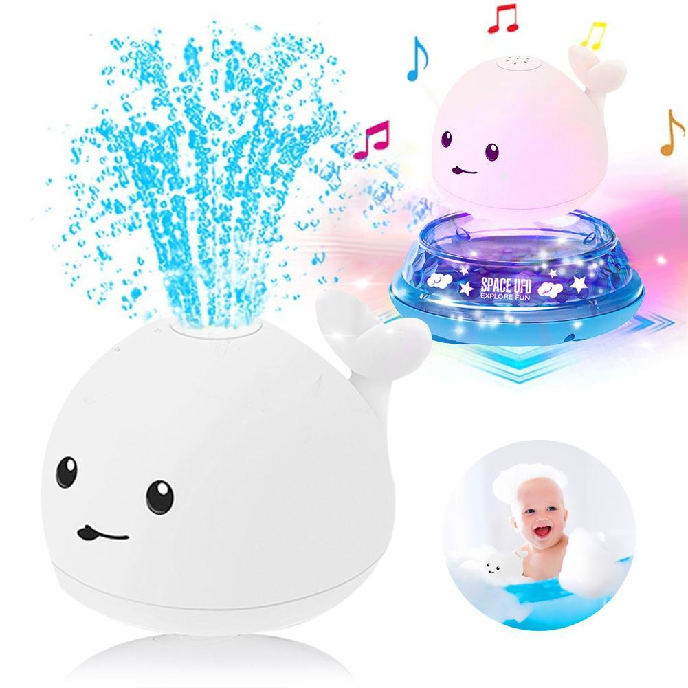 Children's electric whale induction water spray ball