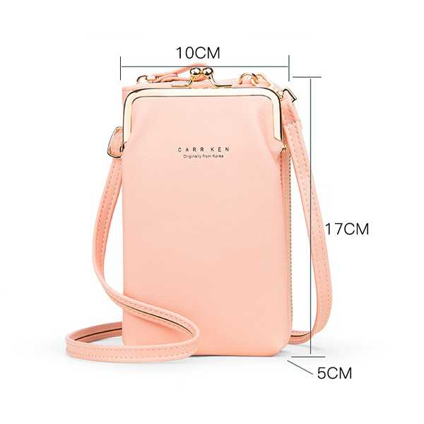 🎁 💕Women Phone Bag Solid Crossbody Bag👜