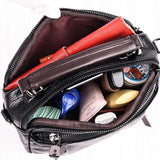 Ladies Cute Multi Pockets Soft Leather Travel Work Shoulder Bag Handbag