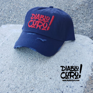 Navy/Red Distressed Dad Hat