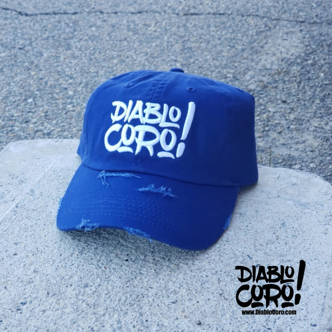 Blue/White Distressed Dad Hat