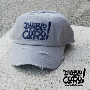 Grey/Navy Distressed Dad Hat