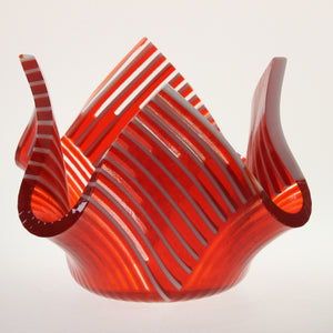 James - Candy Dish Red-White