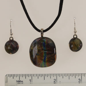 Carter - Necklace-Earring Set Dichromatic MultiColor