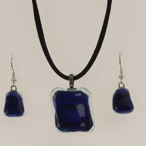 Carter - Necklace-Earring Set Cobalt