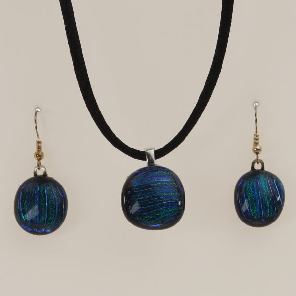 Carter - Necklace-Earring Set Dichromatic-Indigo