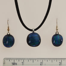 Load image into Gallery viewer, Carter - Necklace-Earring Set Dichromatic-Indigo