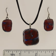 Load image into Gallery viewer, Carter - Necklace-Earring Set Coral Red-Cobalt