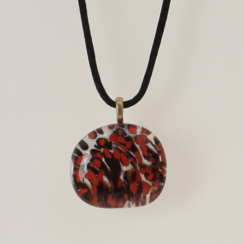 Carter - Necklace Pendant Black-Coral Red