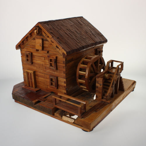 Fisher - Wooden House Sculpture Natural