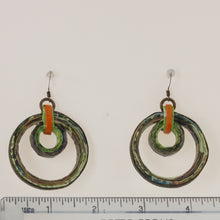 Load image into Gallery viewer, Pereira - Earrings Green-Orange