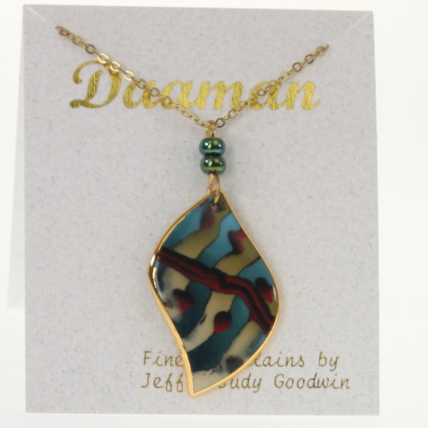 Goodwin - Necklace Baby Blue-Brown