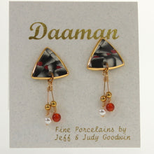 Load image into Gallery viewer, Goodwin - Earrings Oynx-Red