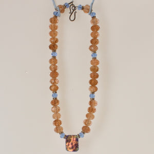 Dolan & Fuller - Necklace Irridized Amber-Blue