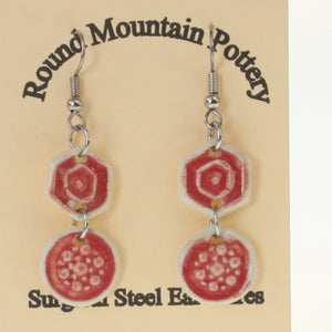 Munson - Earrings Crimson Red