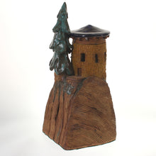 Load image into Gallery viewer, Hannaman - Tree Village Sculpture Cobalt-Teal Brown Earth Tone