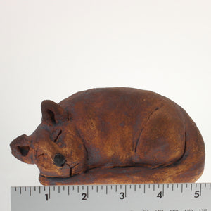 Buriss - Cat Sculpture Iron Oxide
