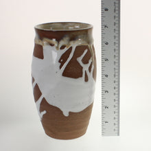 Load image into Gallery viewer, Metzger - Vase White Over Red Stoneware