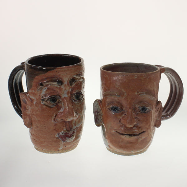 Lorenzen - Set Of Face Mugs Earthenware