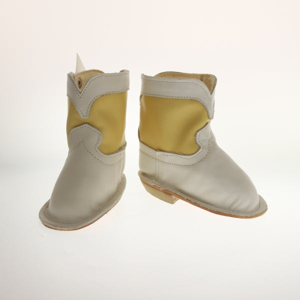 Mckee - Ittybittyboots White/Yellow