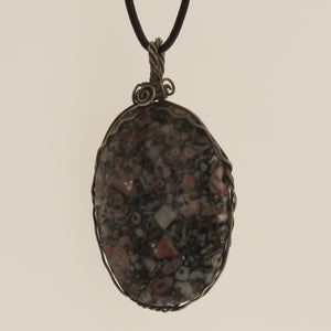 Chard-Stone Necklace-Crinoid Fossil