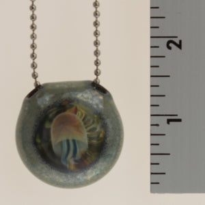 Miller - Hollow Glass Jellyfish Pendant Blue, Multi