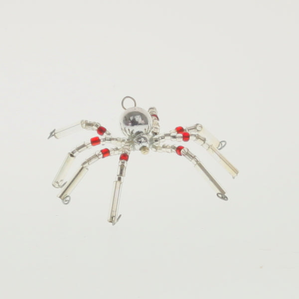 Red Star - Christmas Spider Silver-Ruby Red
