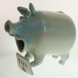 "Greeson - ""Feed Me"" Salt Pig Baby Blue/White"