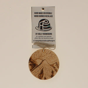 Roomsburg-Reversable Necklace-Natural Wood