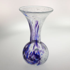 Carter- Bulb Vase Bubble Blue and Purple