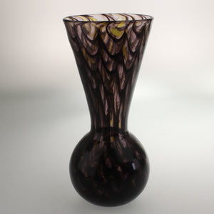 Carter - Bulb Vase Smoky Amethyst Yellow and Black