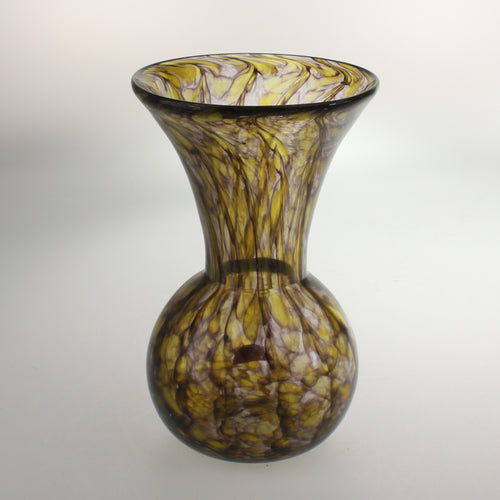 Carter- Bulb Vase Amethyst and Yellow