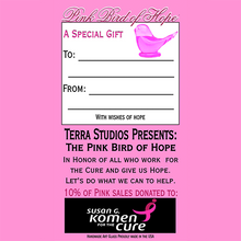 Load image into Gallery viewer, Pink Bird of Hope®  – Adult