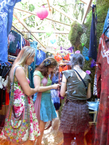 Batikwalla booth at the Oregon Country Fair 2013