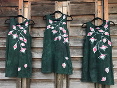 Fuchsias Are Delightful Hand Painted Summer Dress Batik Dresses Batikwalla by Victoria