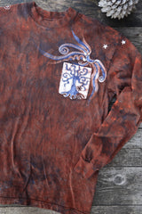 Oak Tree Pocket Hand Crafted Long Sleeve Batik Tshirt tshirt batikwalla
