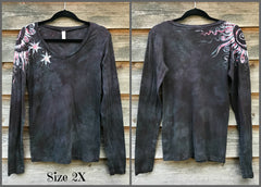 Brave The Storm Handmade Long Sleeve Batik Top