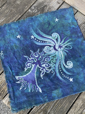 Teal Tree Batik Bandana