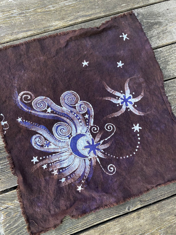 Mystic Moon Star Batik Bandana / Cotton Scarf