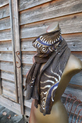 Light To The Cabin Handmade Batik Scarf in Woven Organic Cotton scarf batikwalla