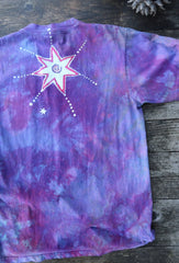 Sunrise Moon Star Handmade Batik Tshirt - Size Medium ONLY tshirt batikwalla