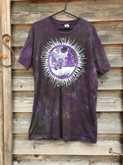 Purple Mushroom Forest Handmade Batikwalla Tshirt - 2X Long ONLY tshirt batikwalla