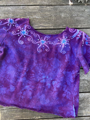 Blue Moon Jewel Tree Organic Cotton Handmade Batik Top Medium/Large Batik Dresses Batikwalla