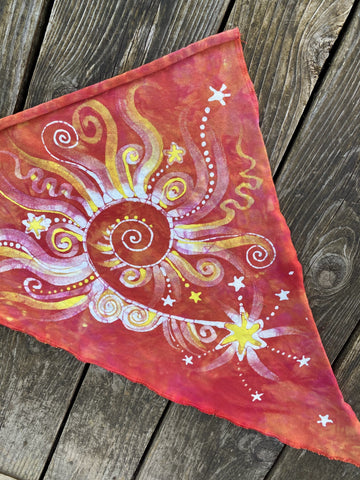 Fire On The Mountain Handmade Batik Bandana